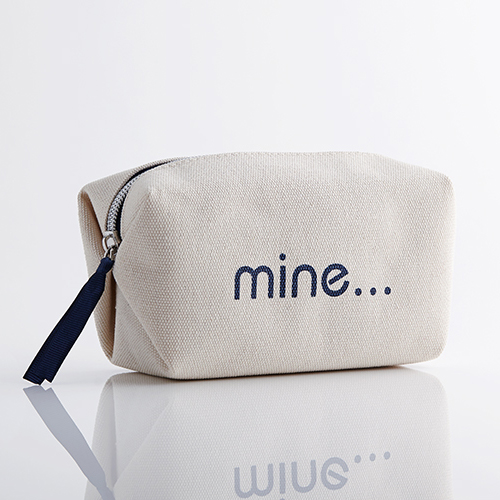 4d356b136a60 Mine Not Yours Canvas Cosmetic Bag – The Sourcery